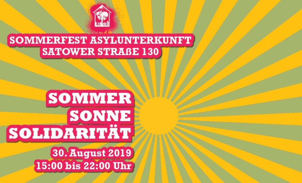 Bild: Sommerfest Flüchtlingsunterkunft 2019