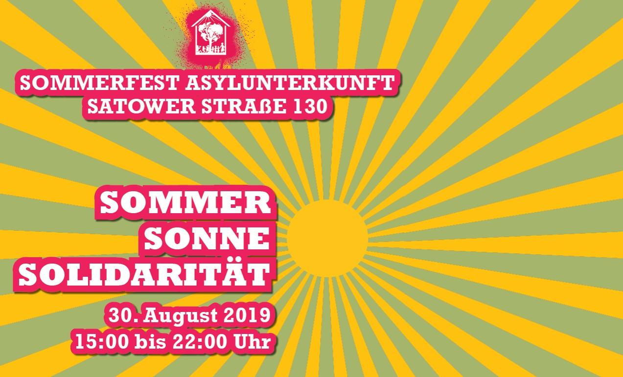 17. Sommerfest in der Flüchtlingsunterkunft