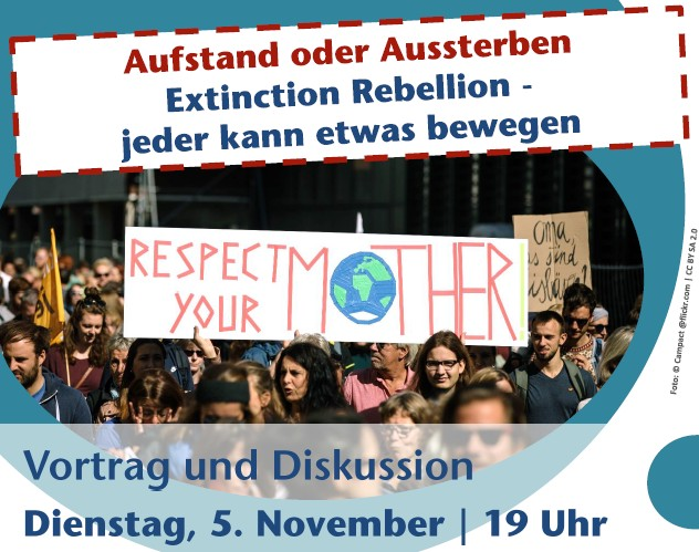 Grafik: Titel Extinction Rebellion Vortrag