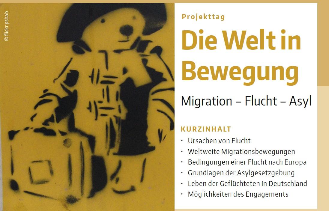 Grafik: Projekttag Migration-Flucht-Asyl