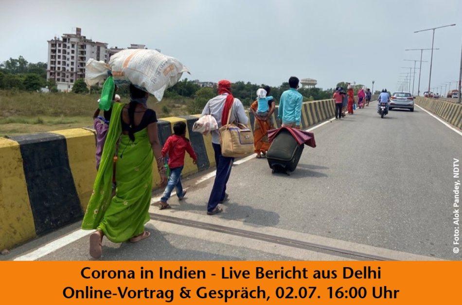 Titelbild: Vortrag Corona in Indien